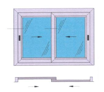 Finestre scorrevoli produzione finestre alluminio pvc Finestra grande scorrevole